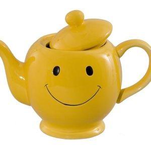 Smiley Face Ceramic Tea Pot